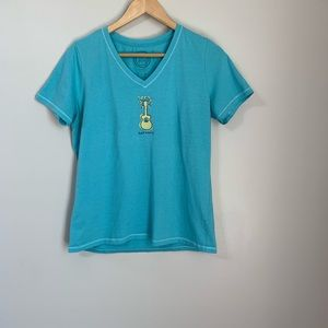 Life is good harmony short sleeve t shirt size med